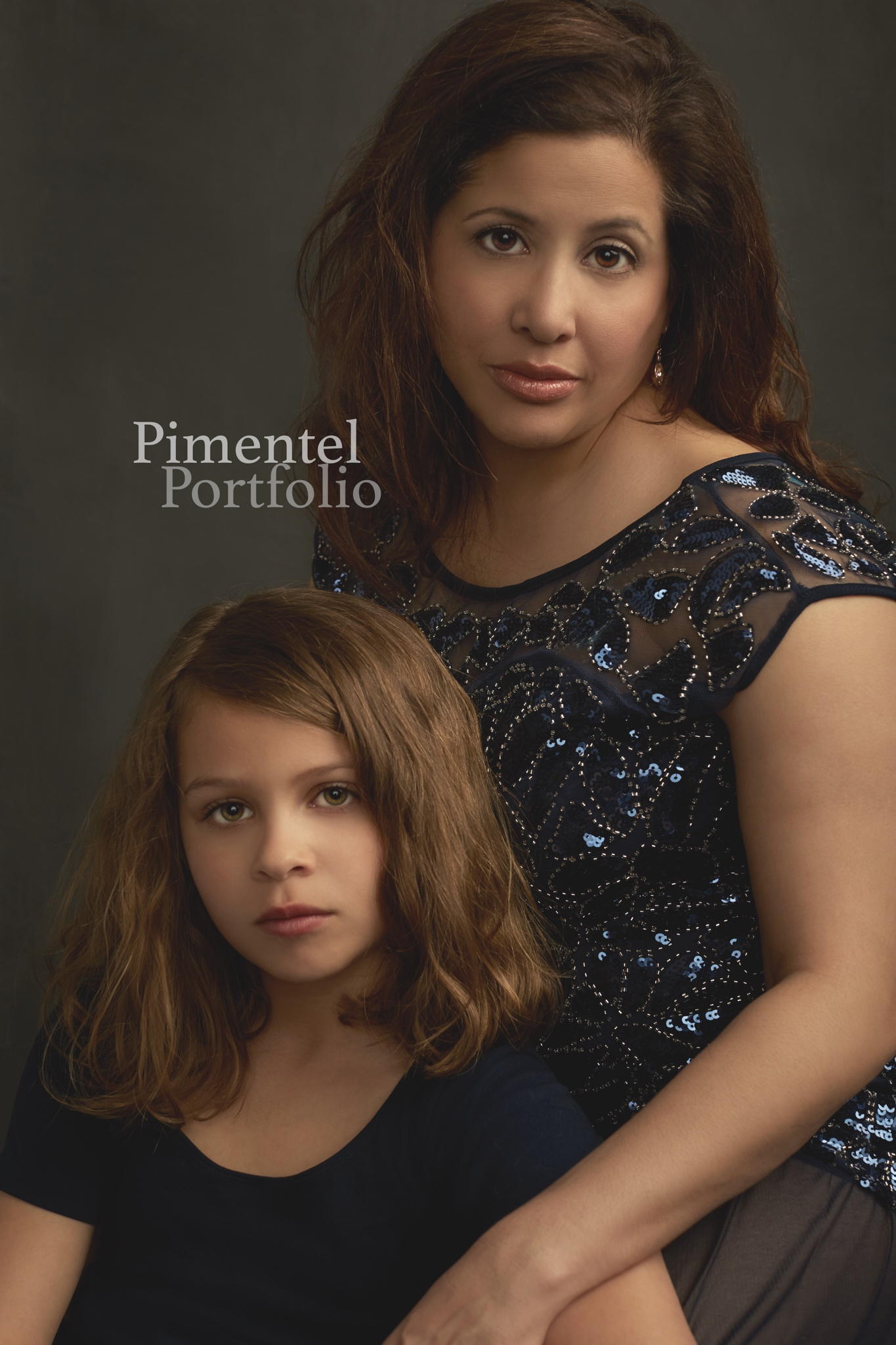 Mother Daughter Portrait captures the moment of a lifetime. Image by Pimentel Portfolio LLC