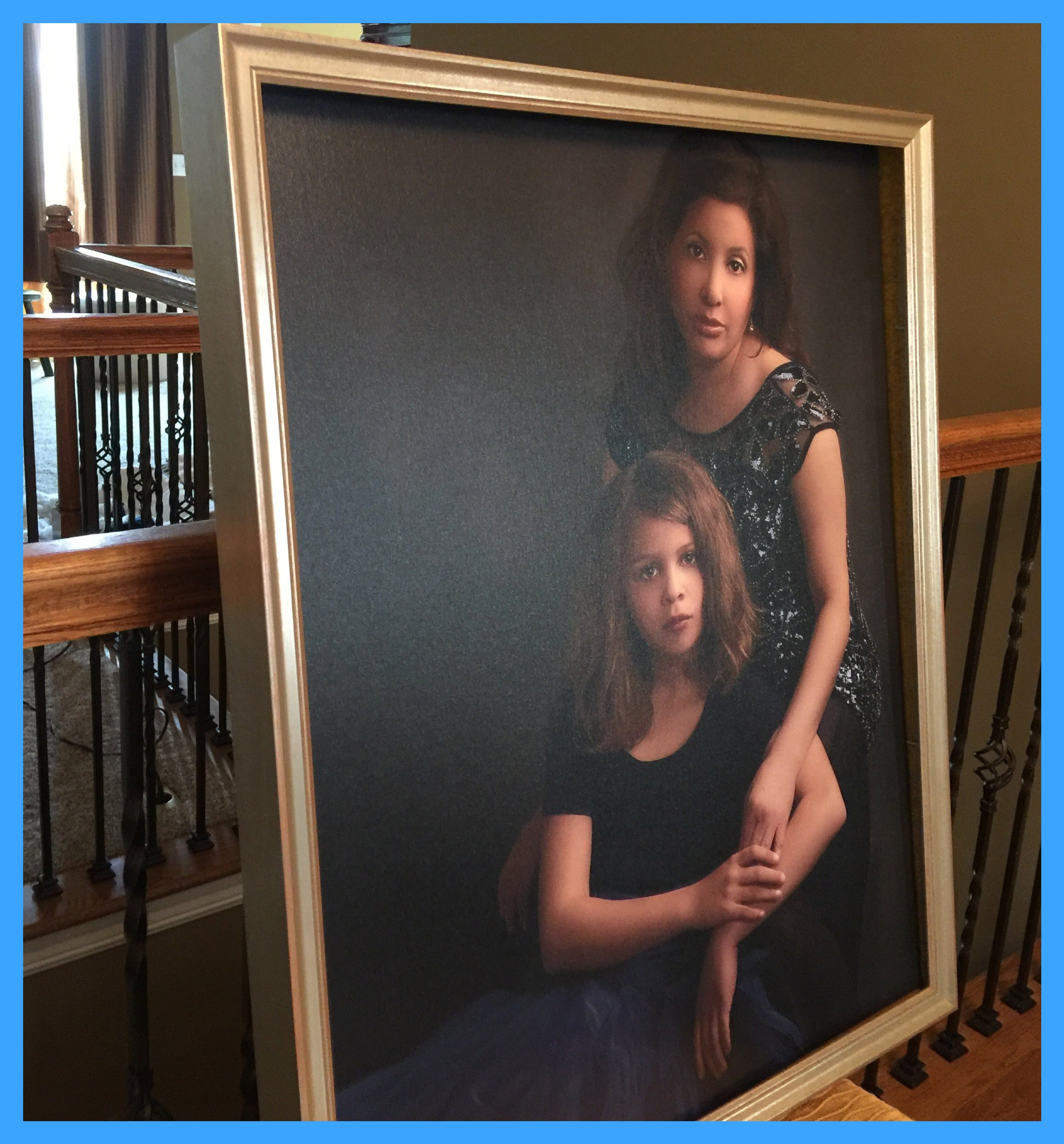 Legacy Mother Daughter Portrait on Canvas