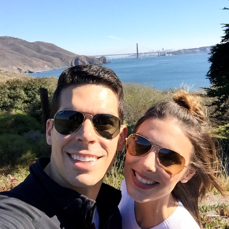 Hiking with the Golden Gate Bridge