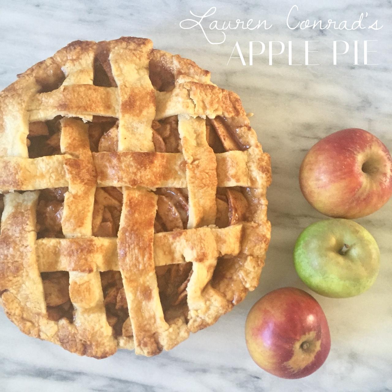 Lauren Conrad's apple pie is a home run!