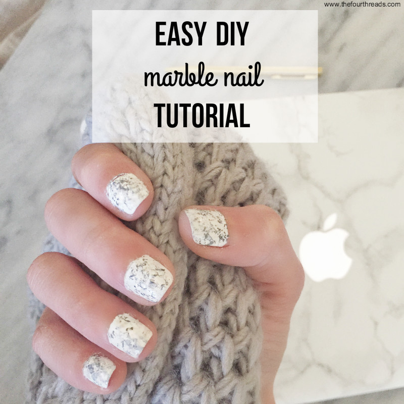 Super easy step-by-step marble nail tutorial #nailart