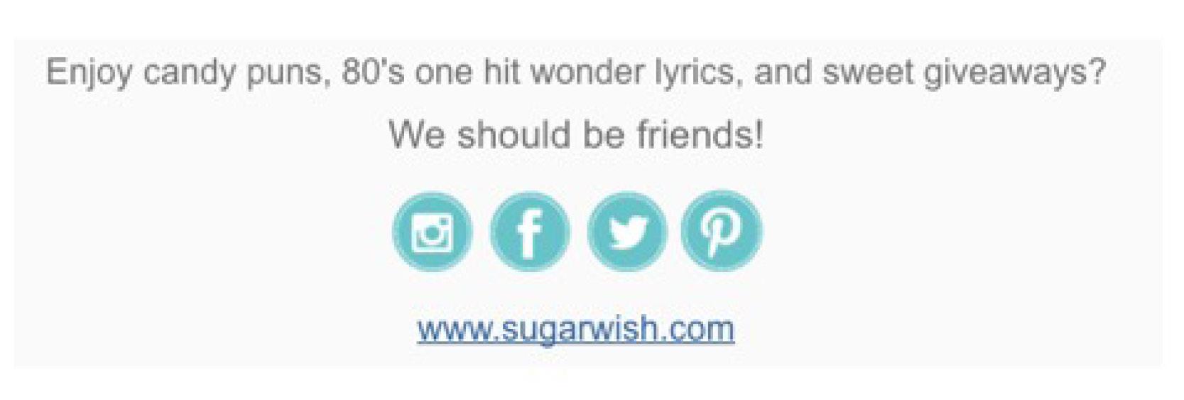 Sugarwish email bottom