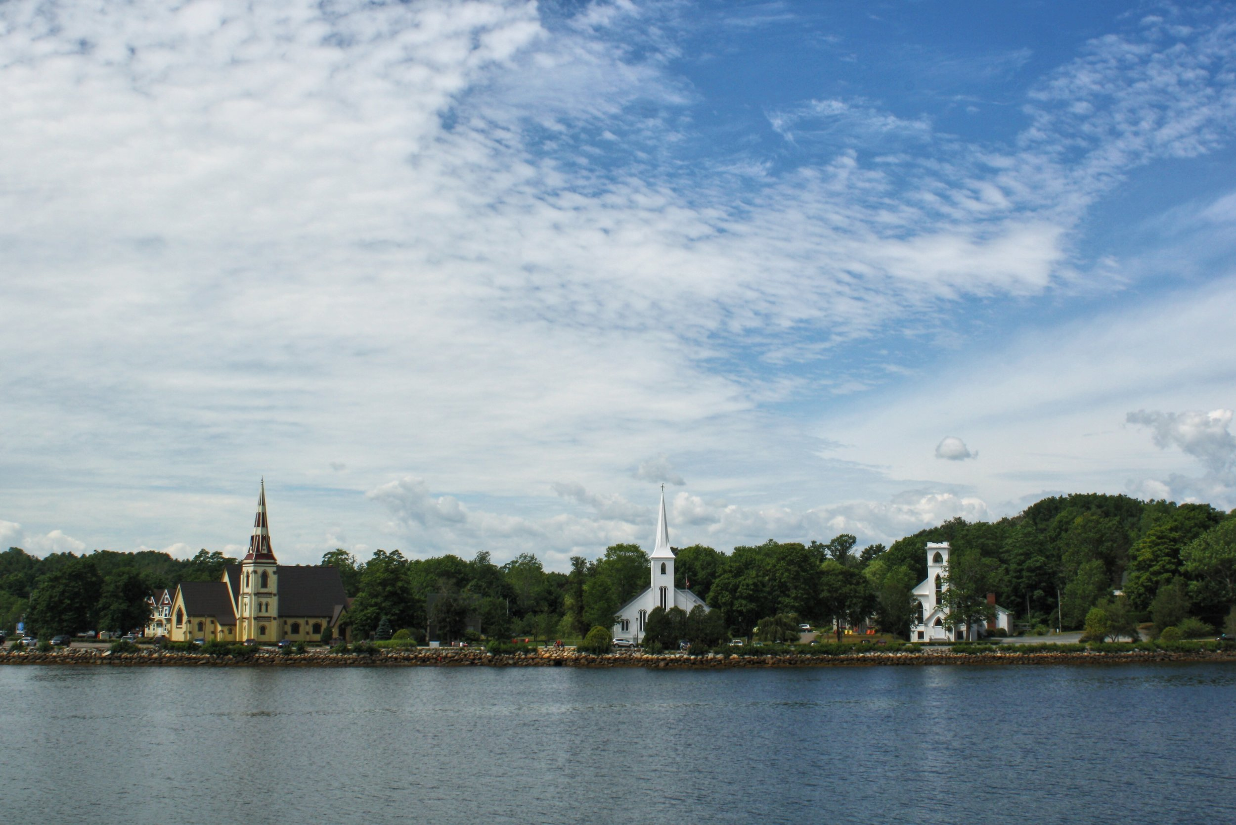 The Three Sisters of Mahone Bay