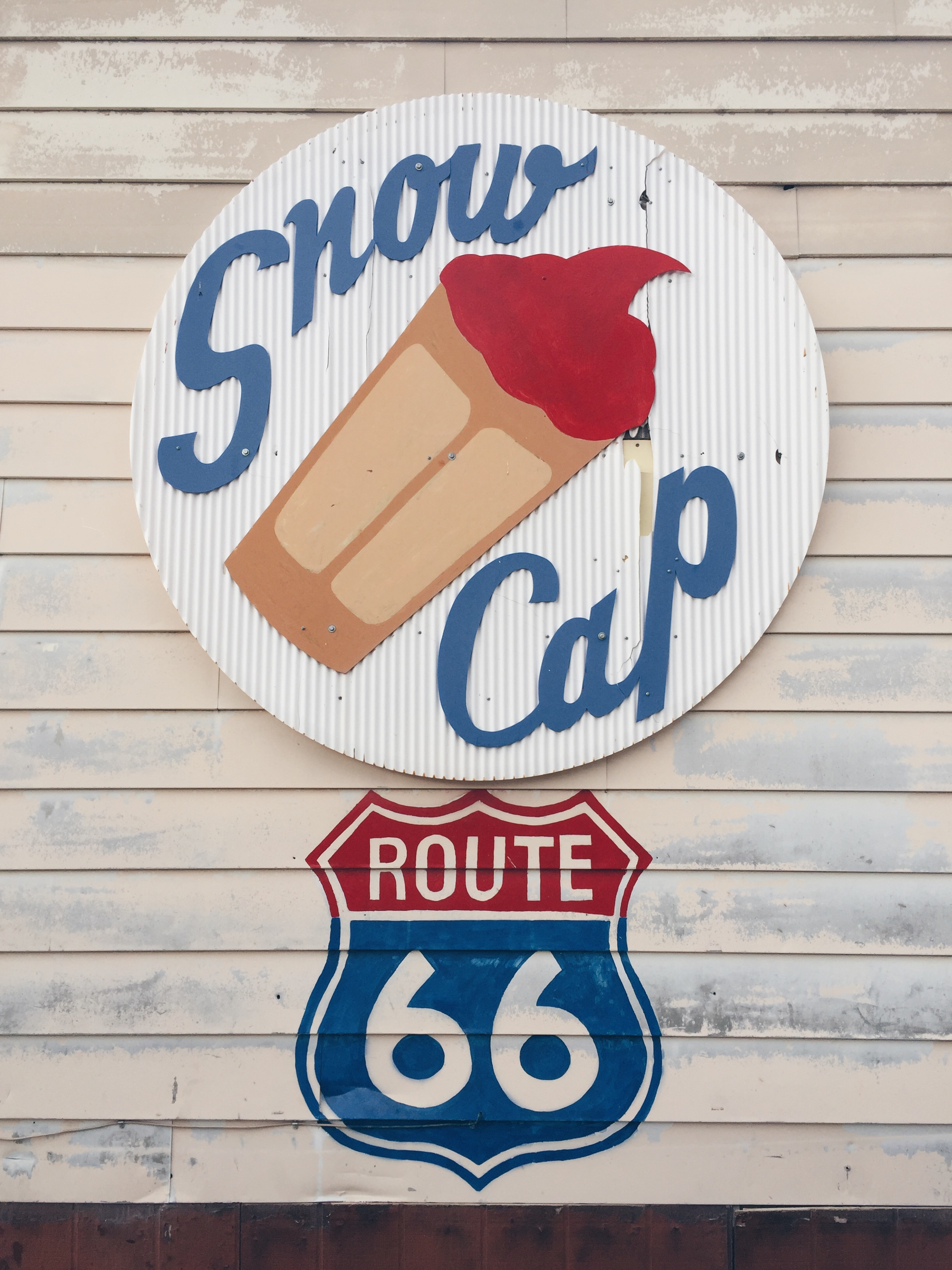Snow Cap, Route 66