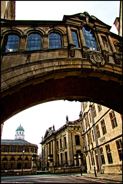 Oxford, England - The Bridge of Sighs at Hertford College