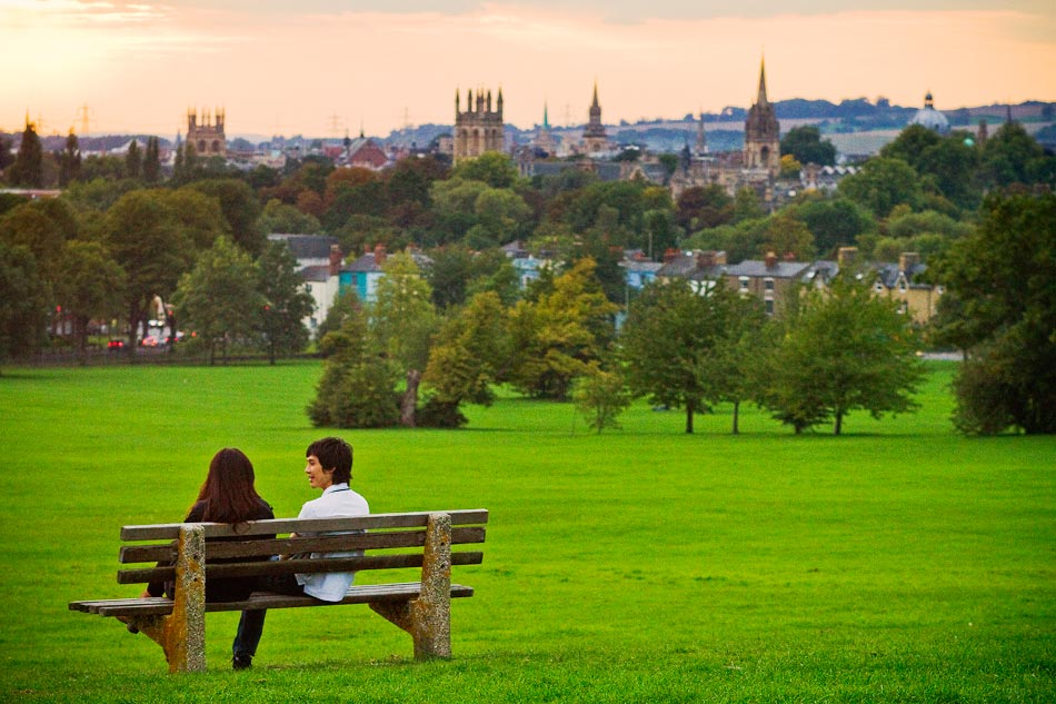 Oxford, England - The Oxford skyline from South Park.