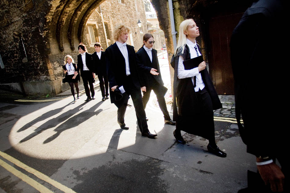 Oxford, England - Wadham College matriculation ceremony