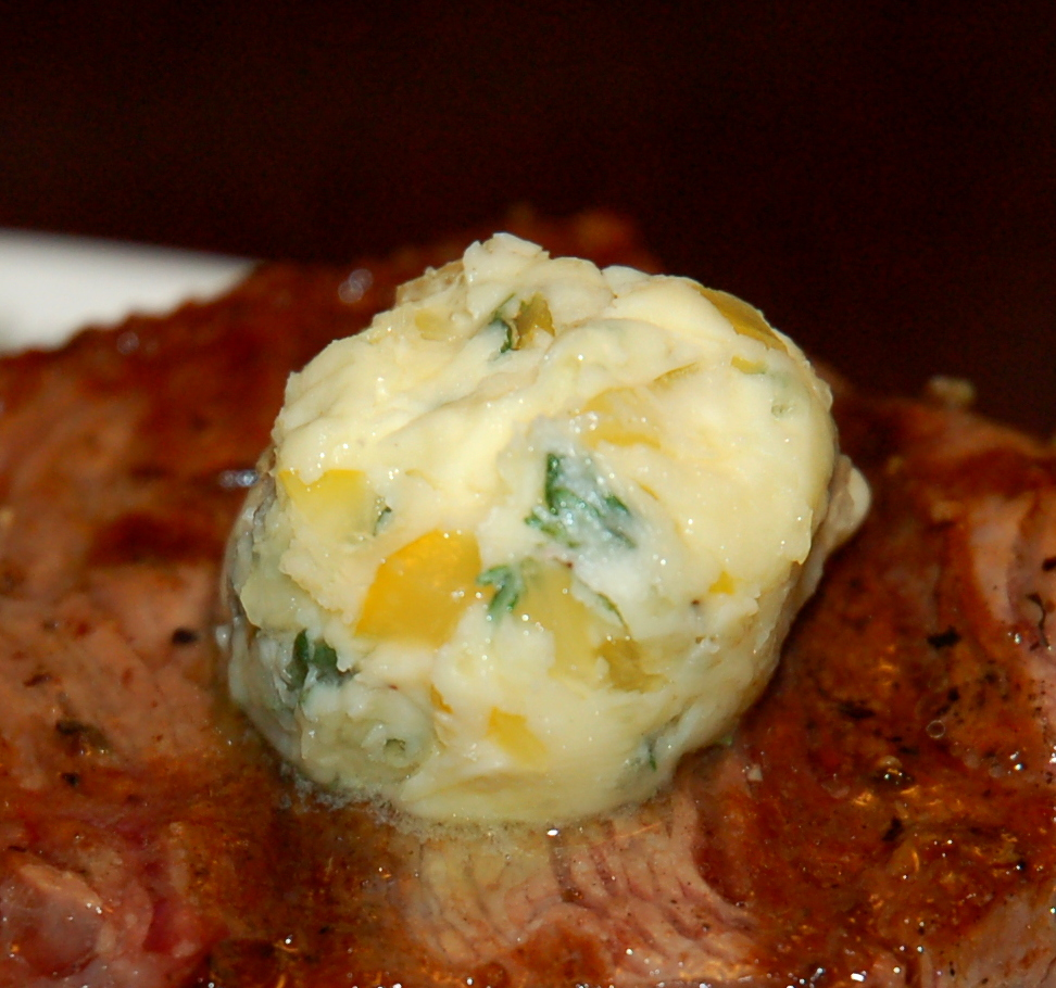 preserved lemon and thyme compound butter