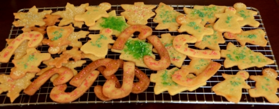 Christmas-time butter cookies