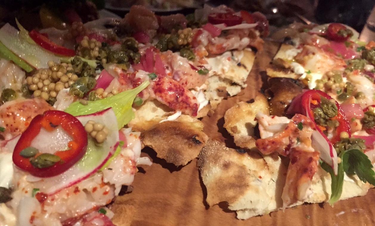 lobster flatbread
