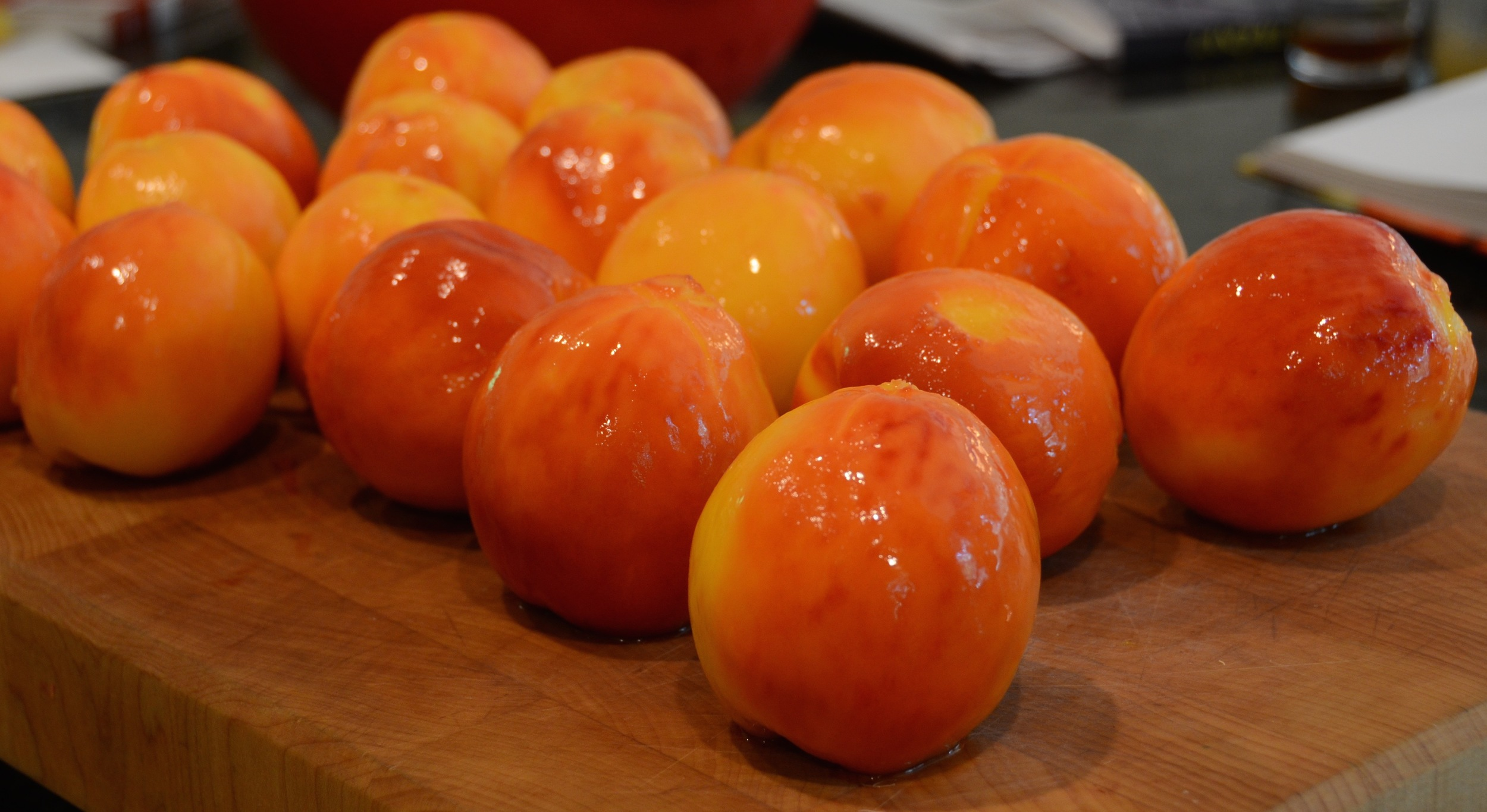 prepping peaches to be brandied; #nofilter; incredible, yes?