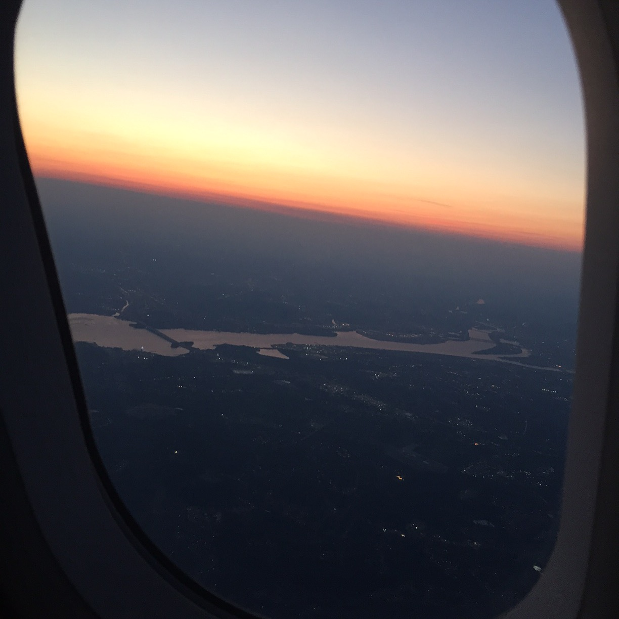 I love taking photos from airplane windows.