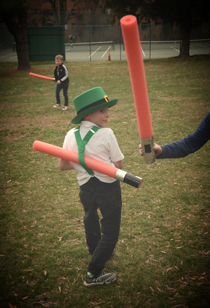 His character name was Darth Leprechaun. I do NOT worry about this kid's spirit.