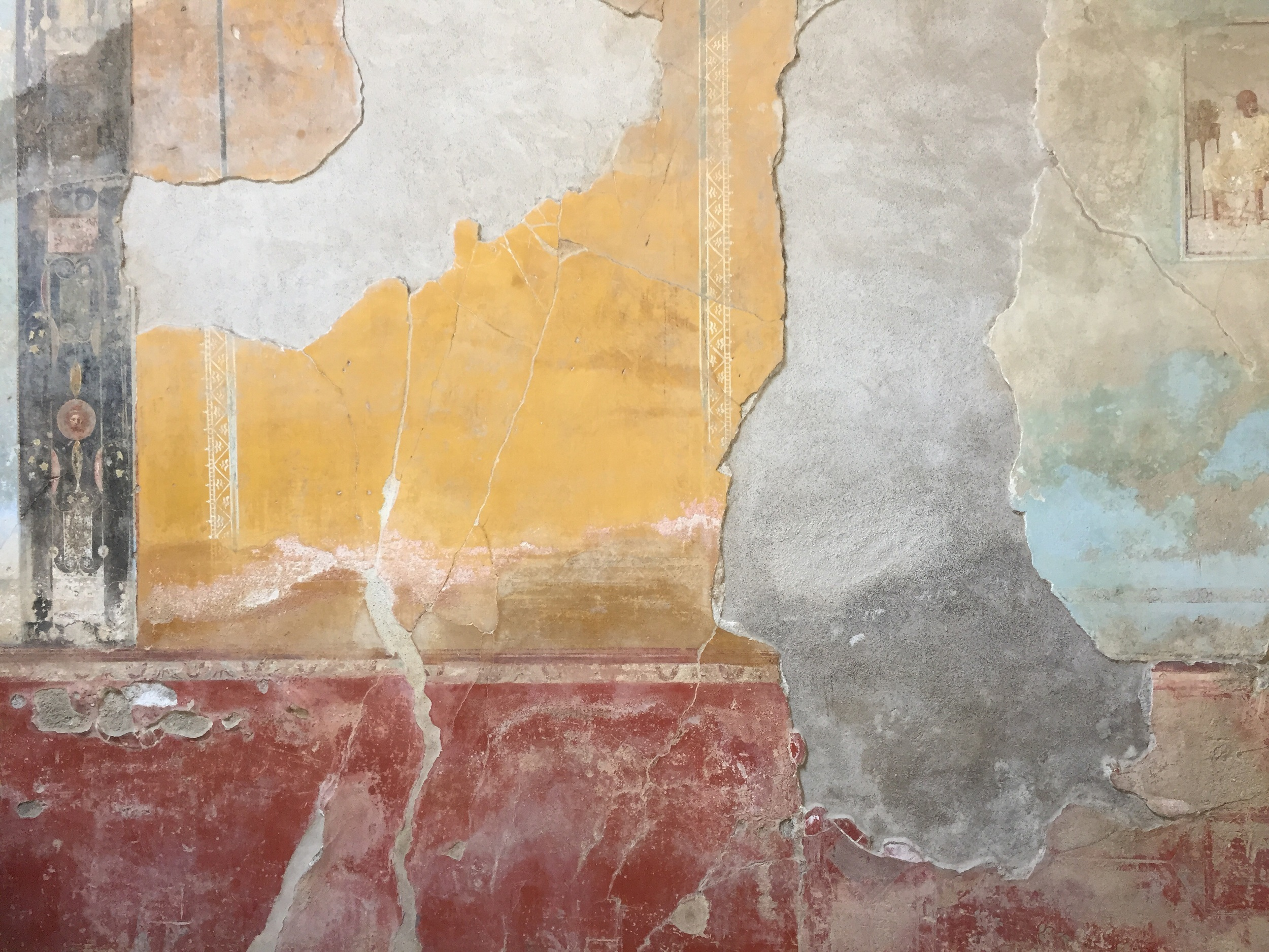 Original frescos in a home