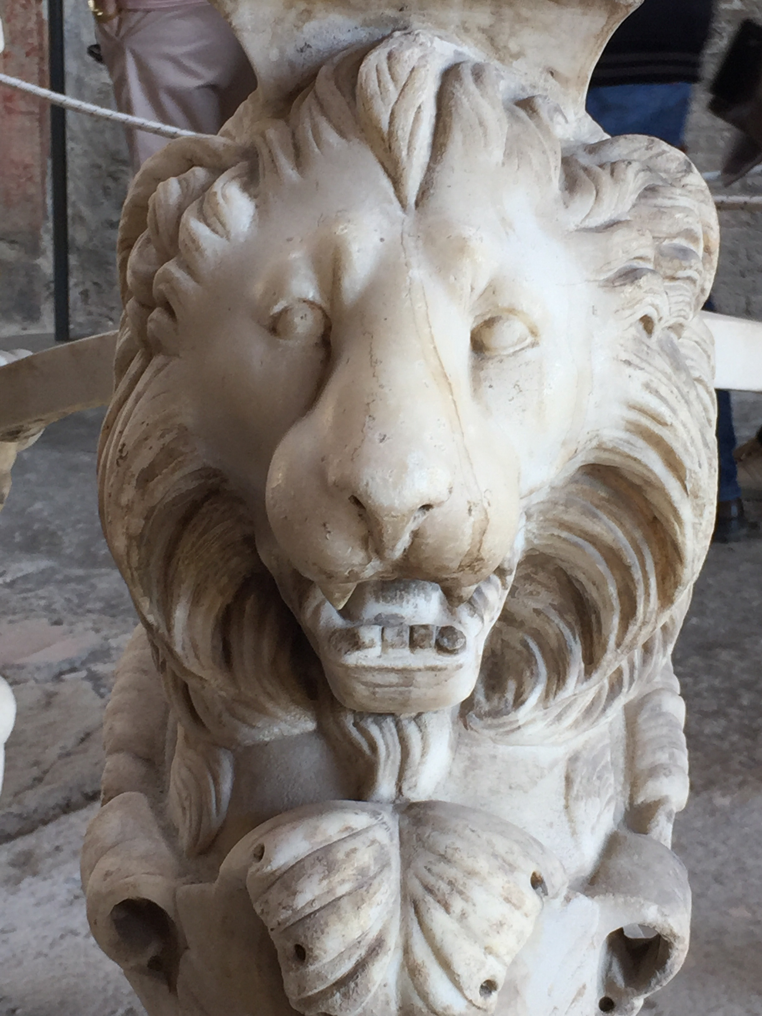 Marble lion, part of a table base