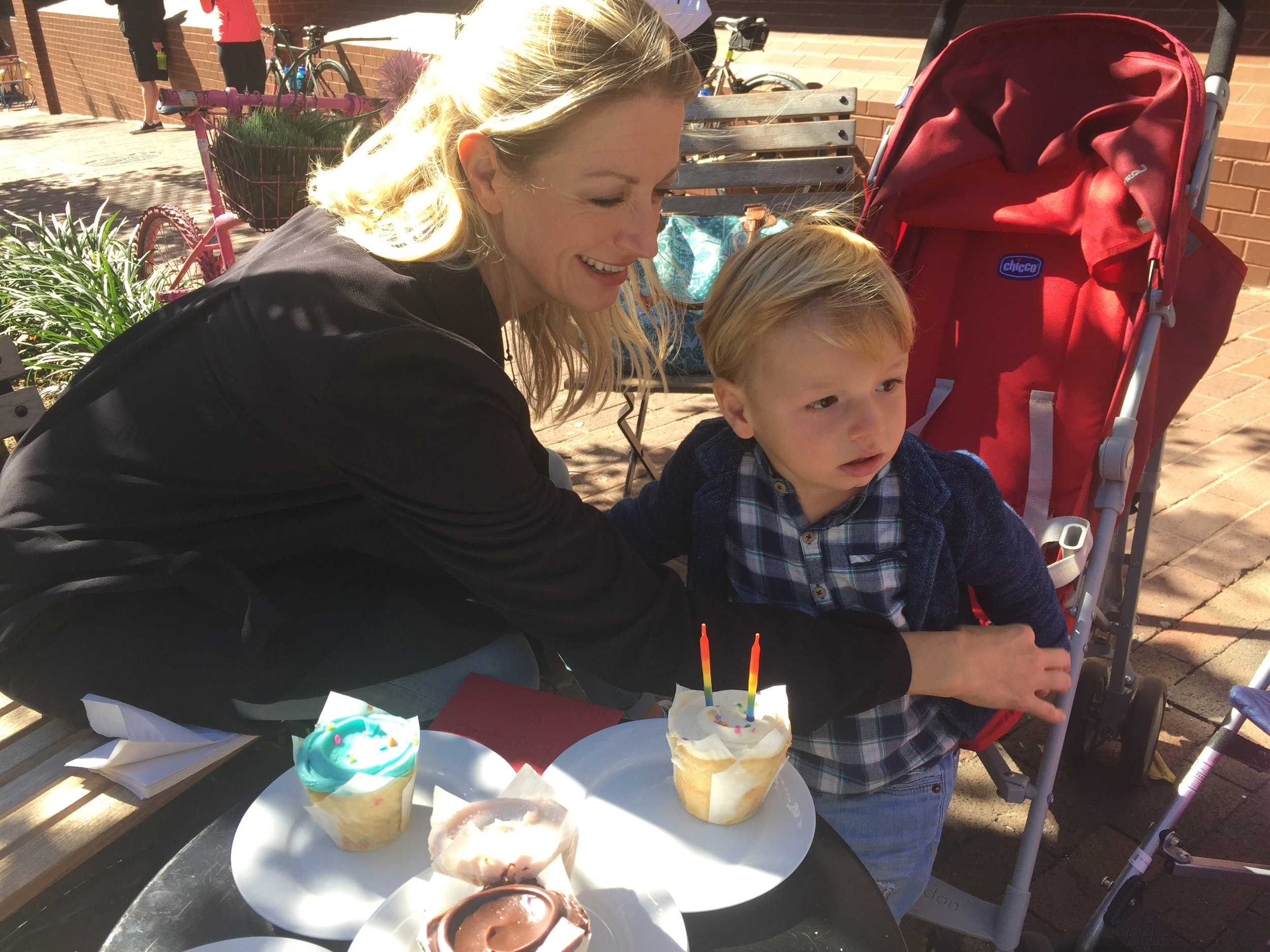 Beautiful mama and darling nephew!