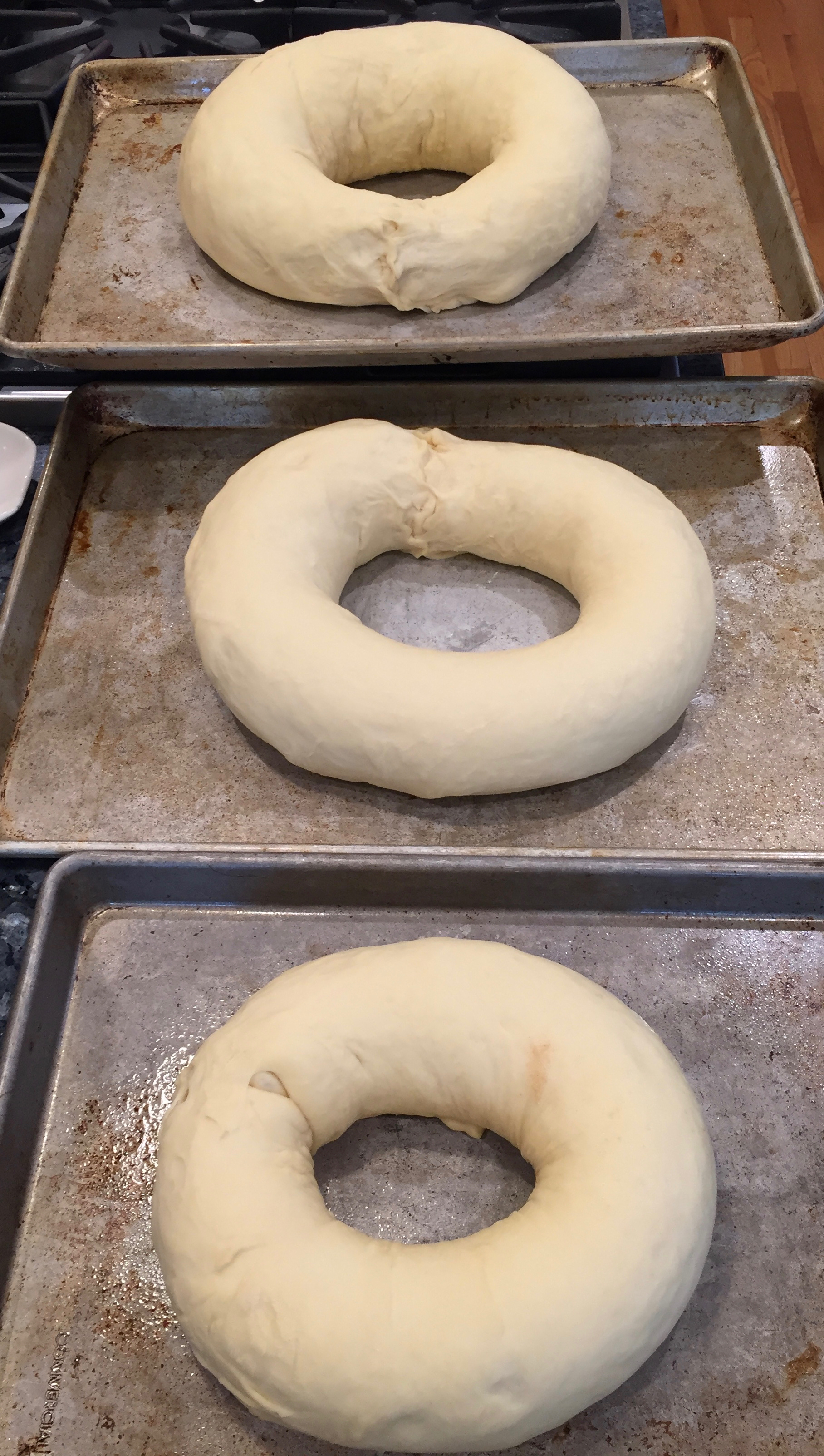 king cakes that have risen and are ready for the oven