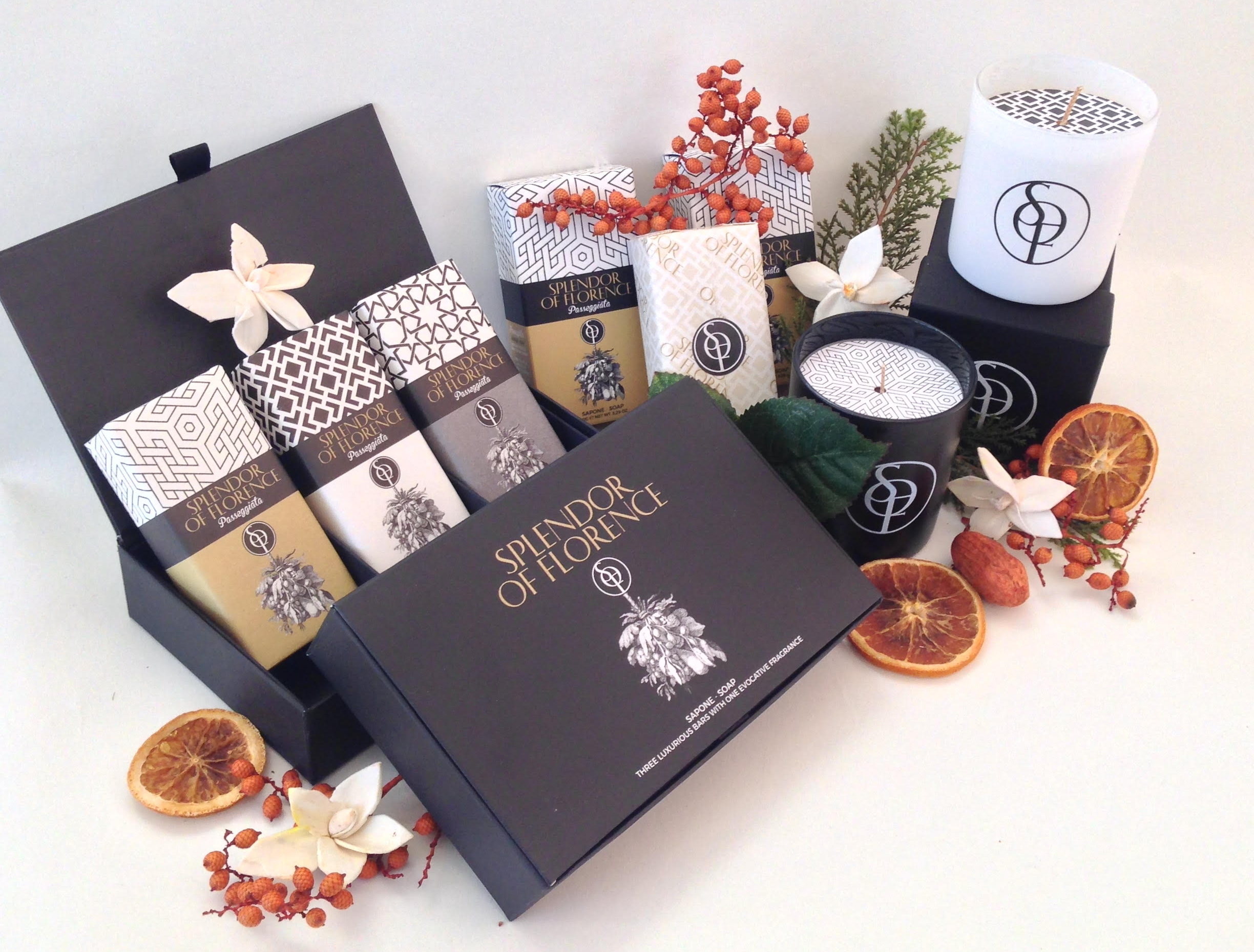Splendor of Florence Passegiata soaps and candles