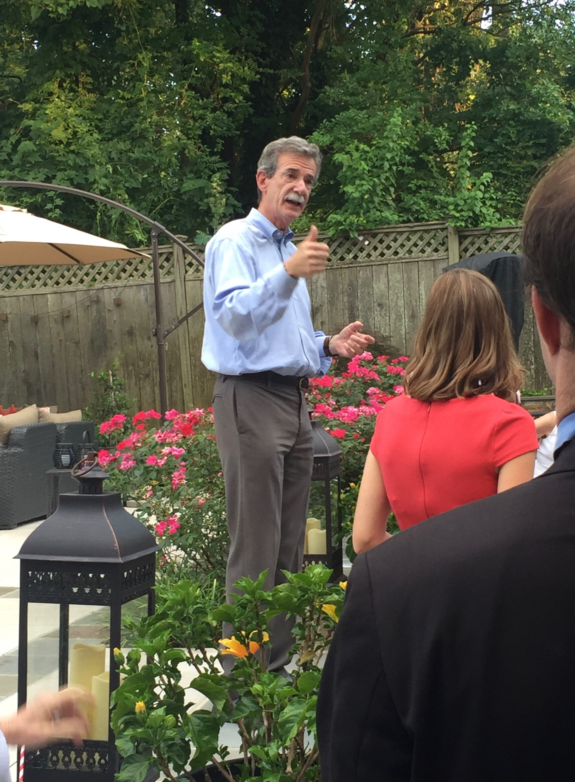 MD AG Brian Frosh speaks at a MDPGV fundraiser