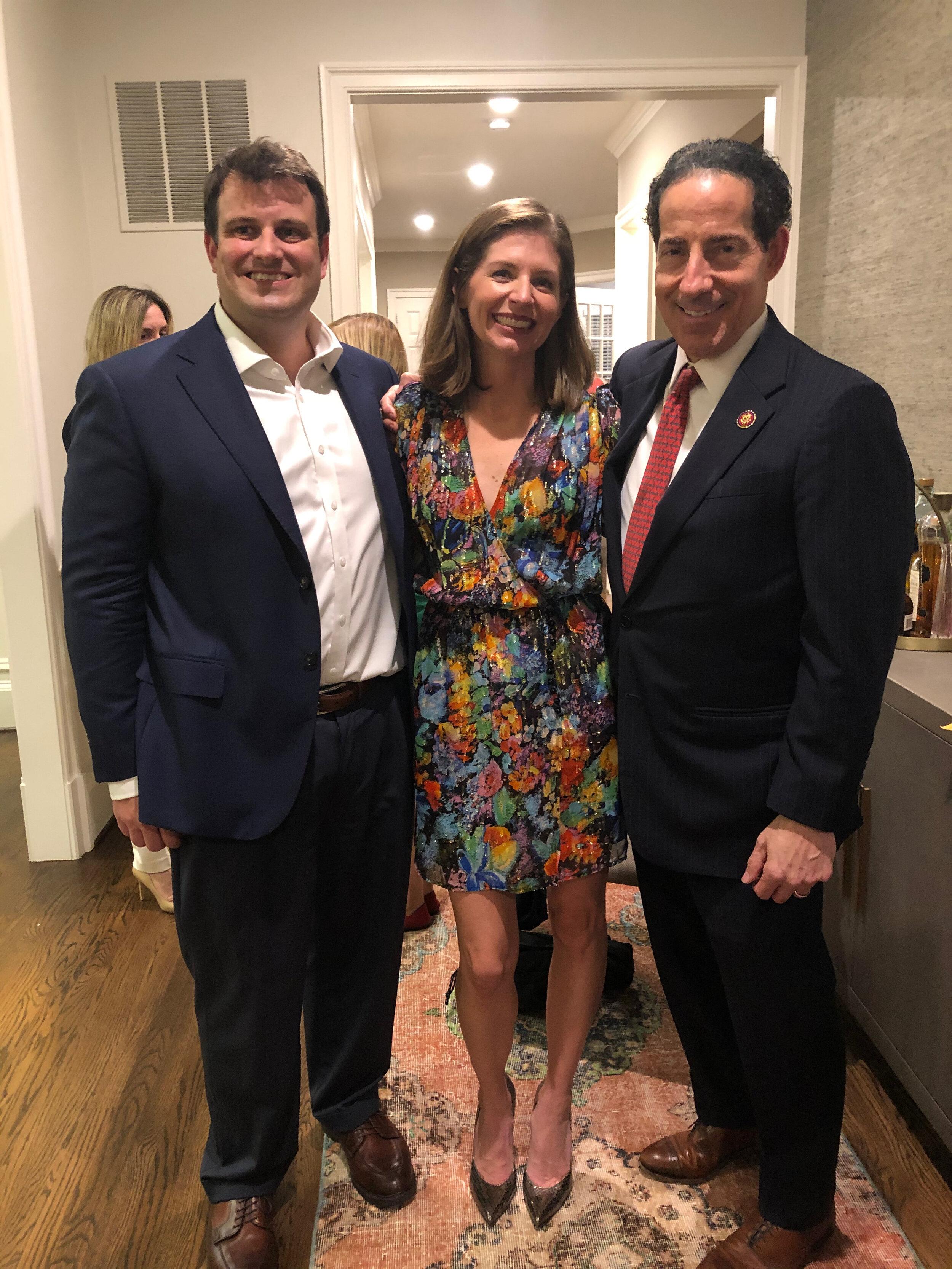 Tom, me, Congressman Raskin