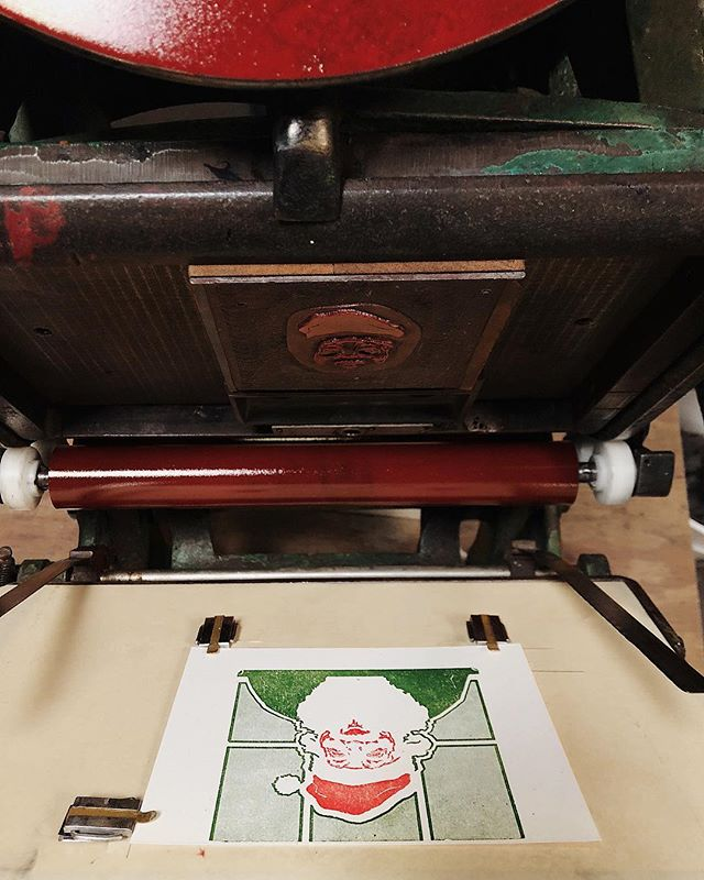 Just sent a batch of these out to the snail-mail list. 🐌🌲 #letterpress