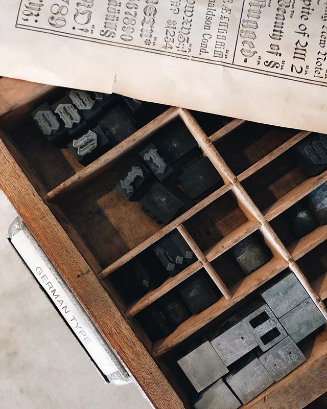 German type. 🇩🇪 #letterpress