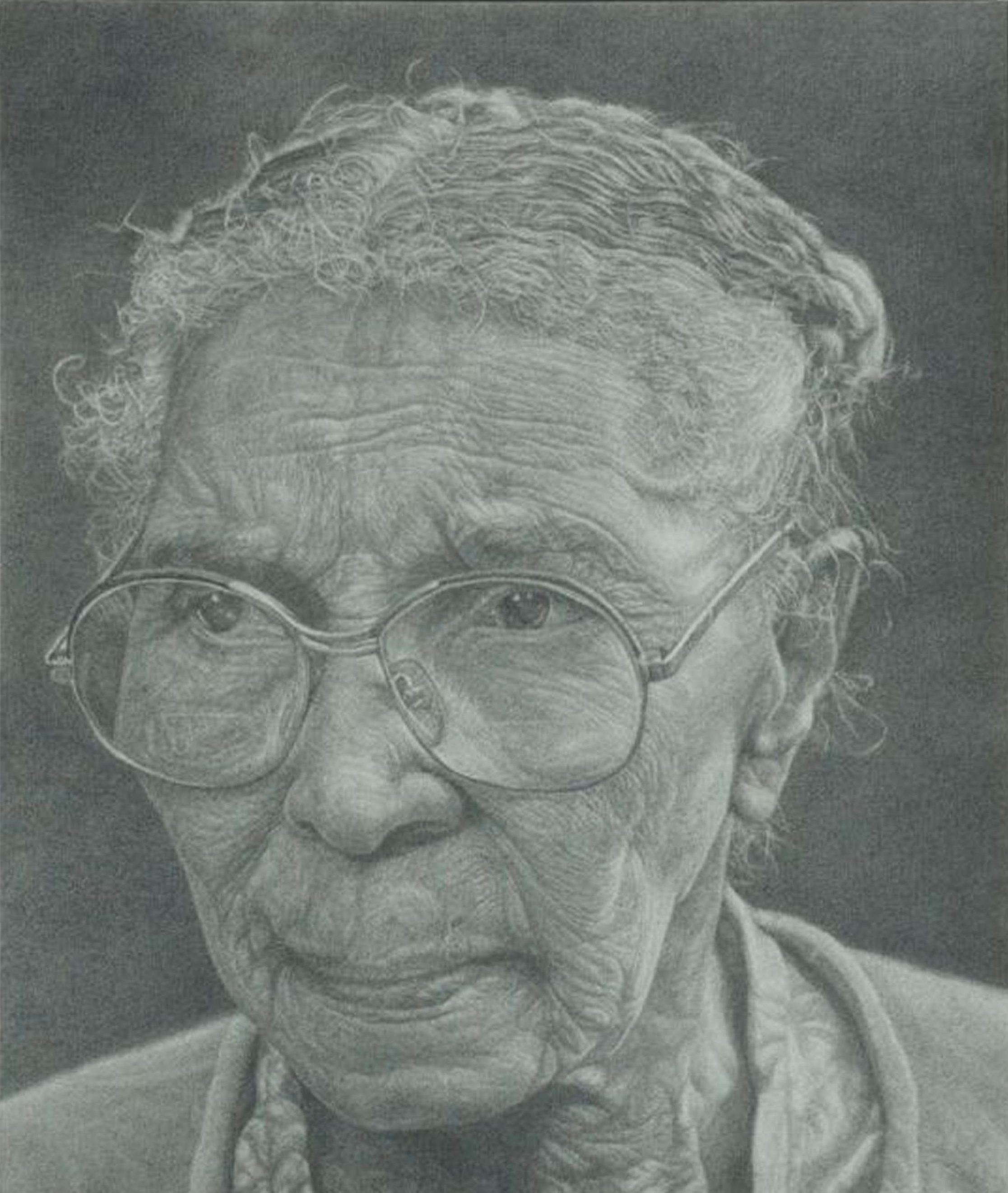 """Gussy Morgan""  2008 Pencil on wove paper  15 ¾ x 13 ¼ inches  © Richard Wyatt Jr."