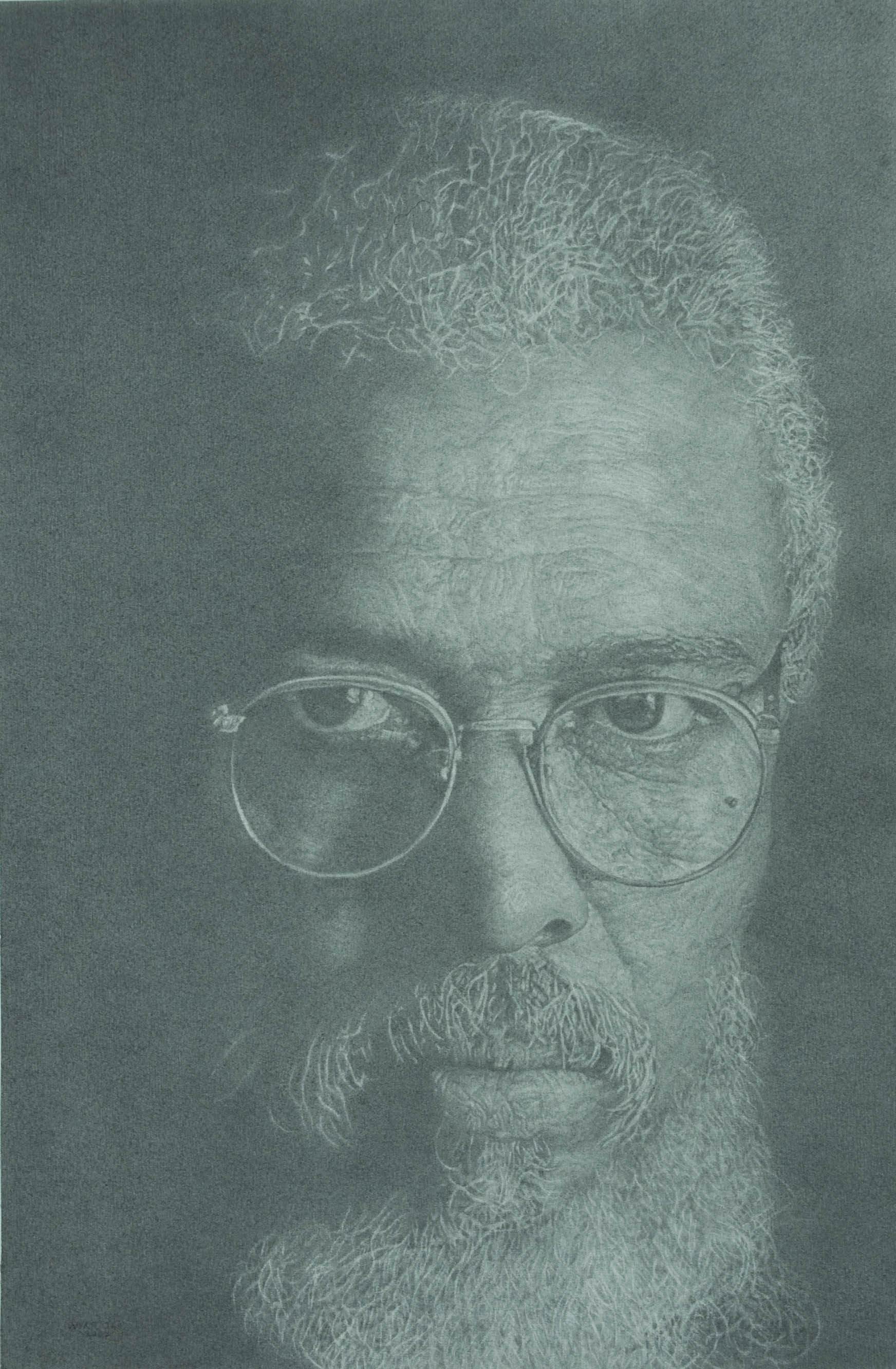 """This One Is For John""    2007 Pencil on wove paper   22 x 14 ½ inches   © Richard Wyatt Jr."