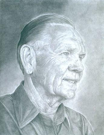 """Jack Kramer""    2003 Pencil on wove paper   18 x 24 inches   © Richard Wyatt Jr."