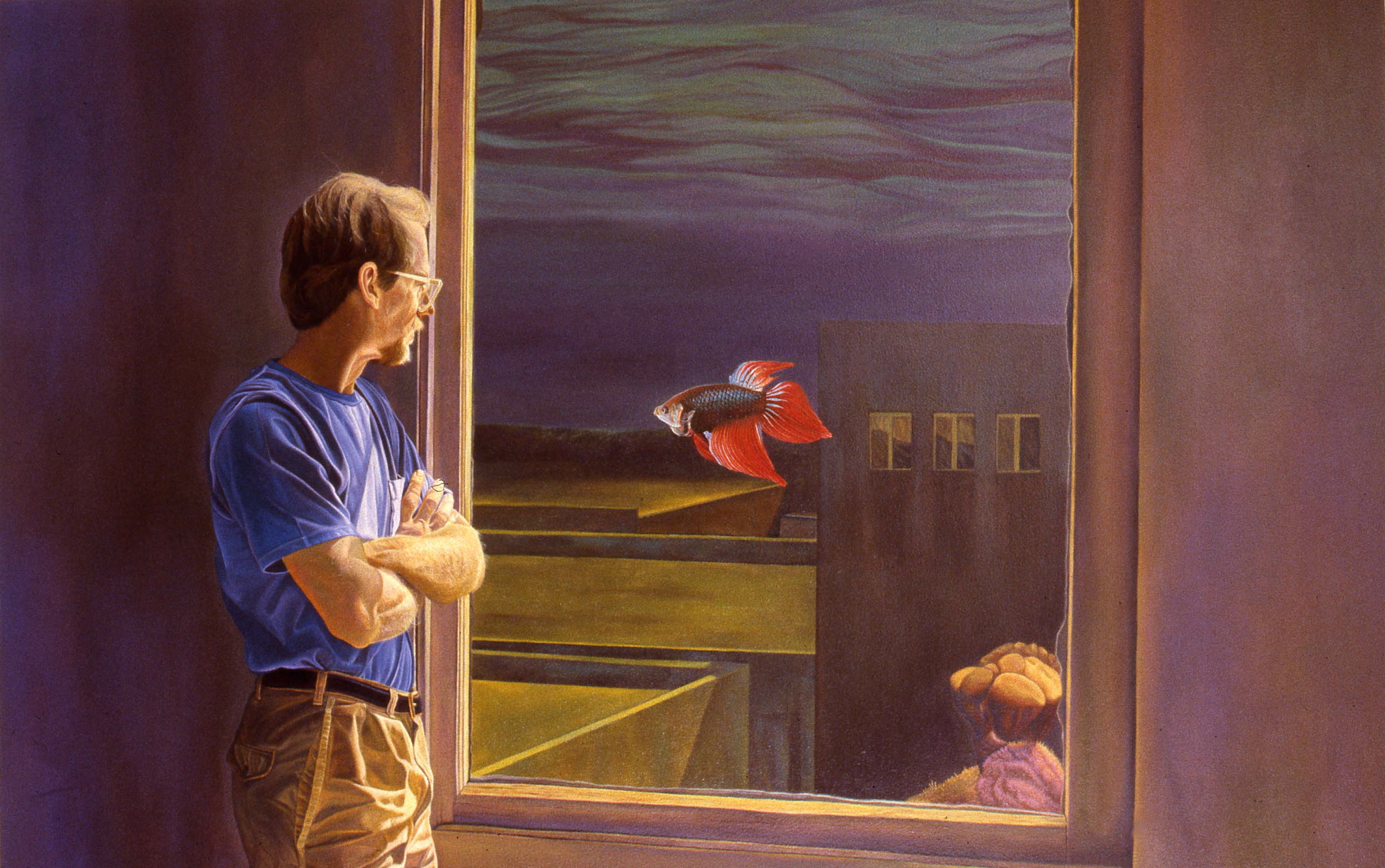 """""""Terry's View""""    1989 Oil on canvas   48 x 72 inches   © Richard Wyatt Jr."""