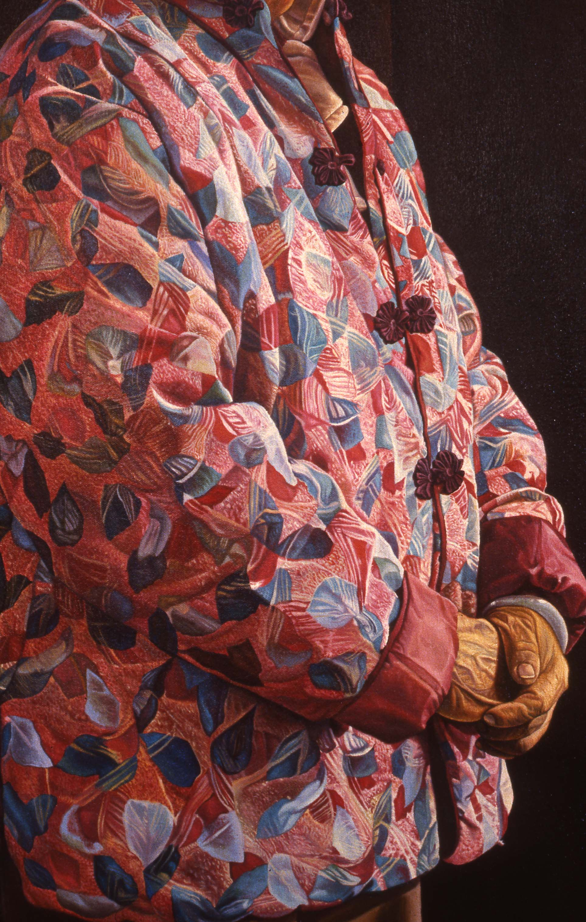 """""""Things Which Are Seen Are Temporal"""", Detail    1988 Oil on canvas   72 x 48 inches   © Richard Wyatt Jr."""