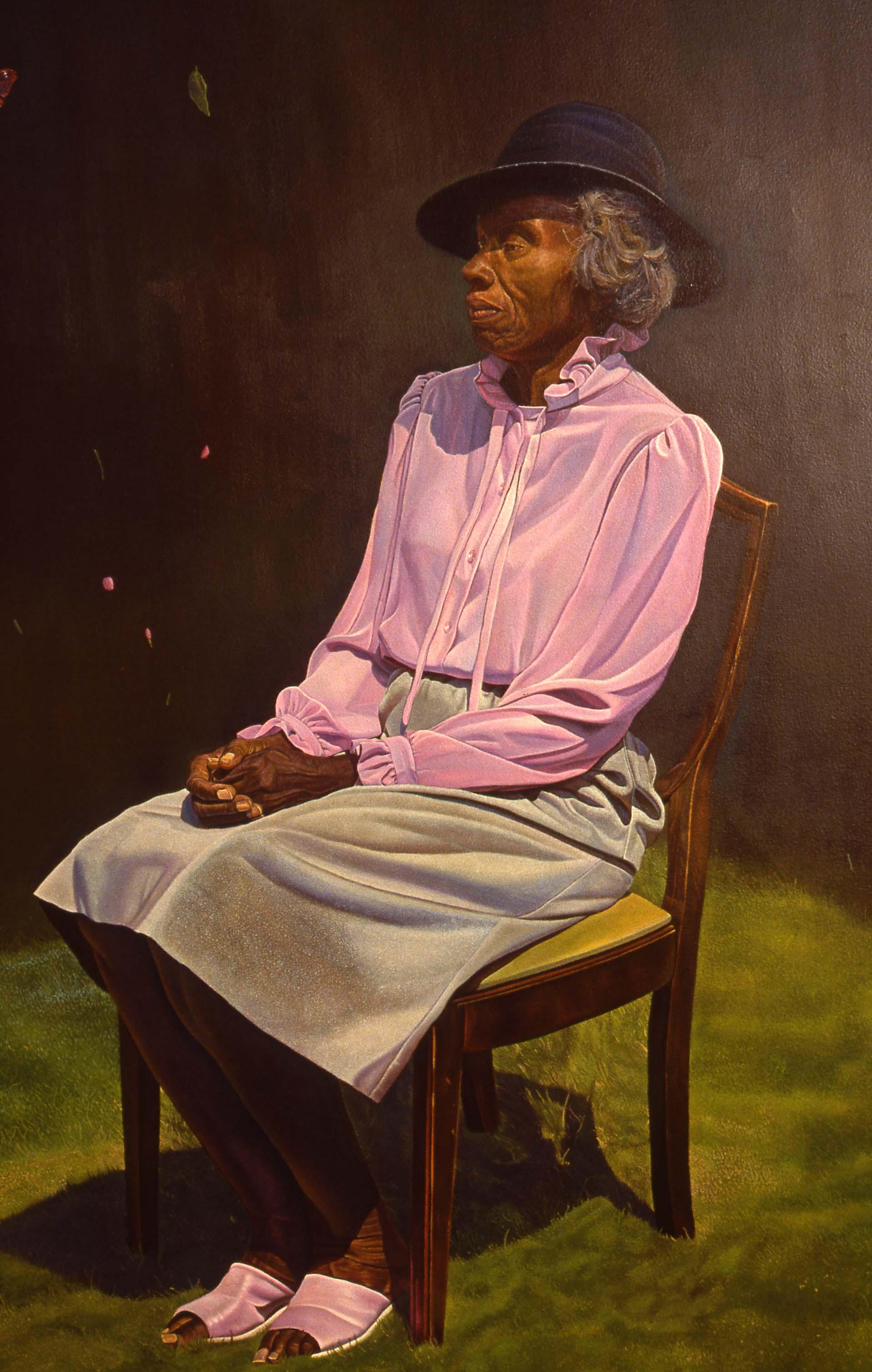 """The Survivor""    1990 Oil on canvas   72 x 72 inches   © Richard Wyatt Jr."