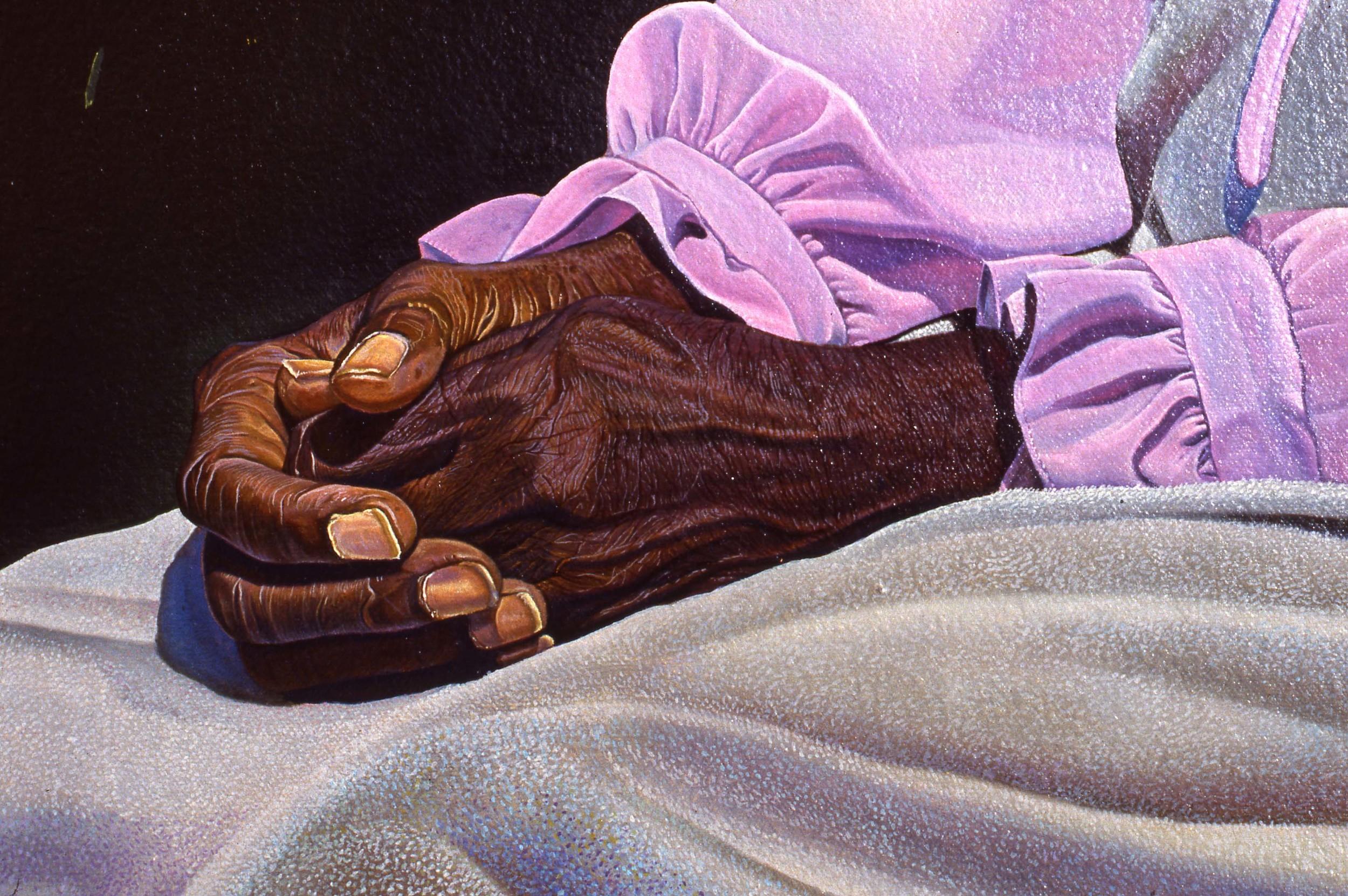 """""""The Survivor"""", Detail    1990 Oil on canvas   72 x 72 inches   © Richard Wyatt Jr."""
