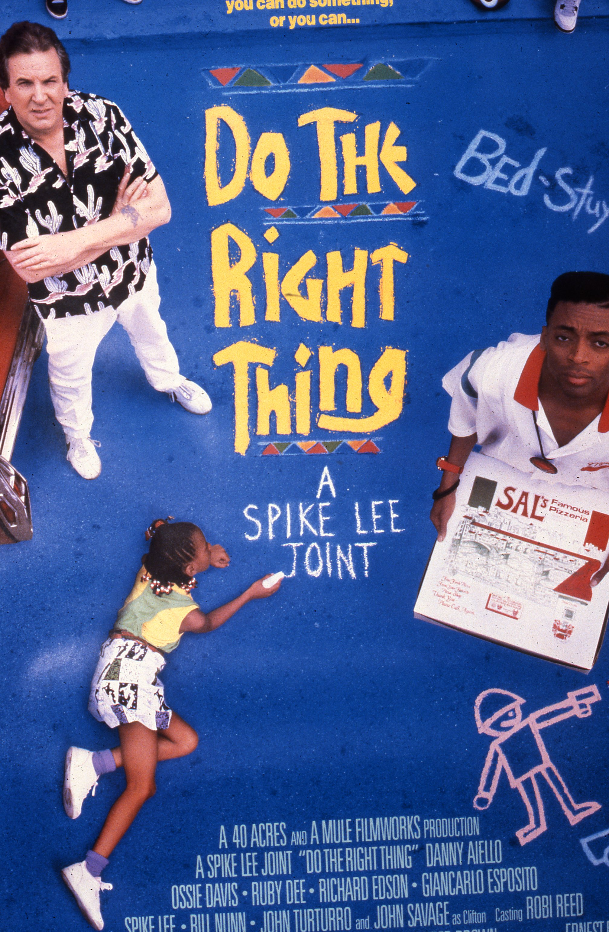 """Do The Right Thing"",Movie Poster    1989 Art Director: Art Sims   Photographer:Anthony Barboza   Artist: Richard Wyatt Jr."