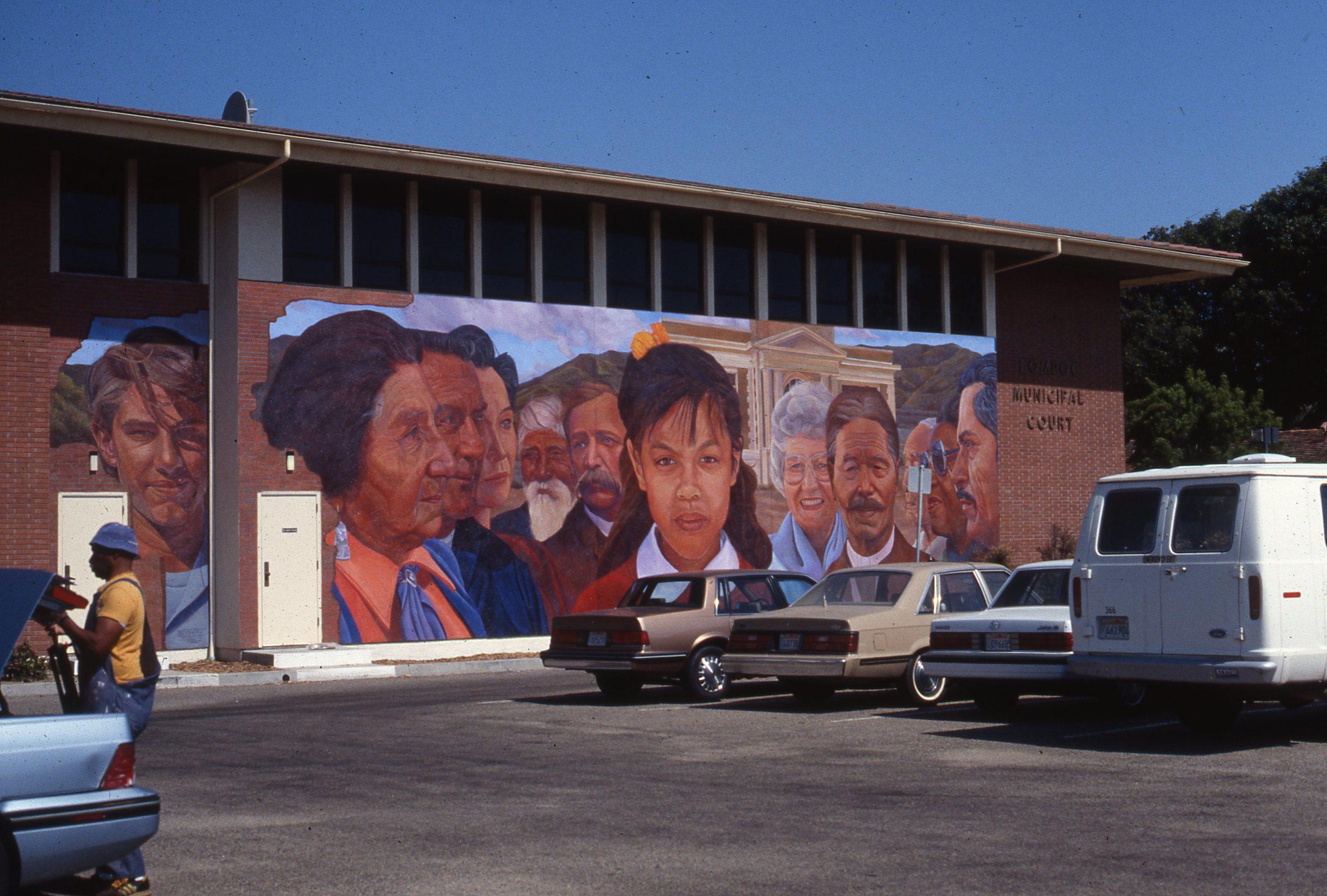 """Santa Barbara County Arts Commission Project""    1991 Acrylic on concrete   © Richard Wyatt Jr."