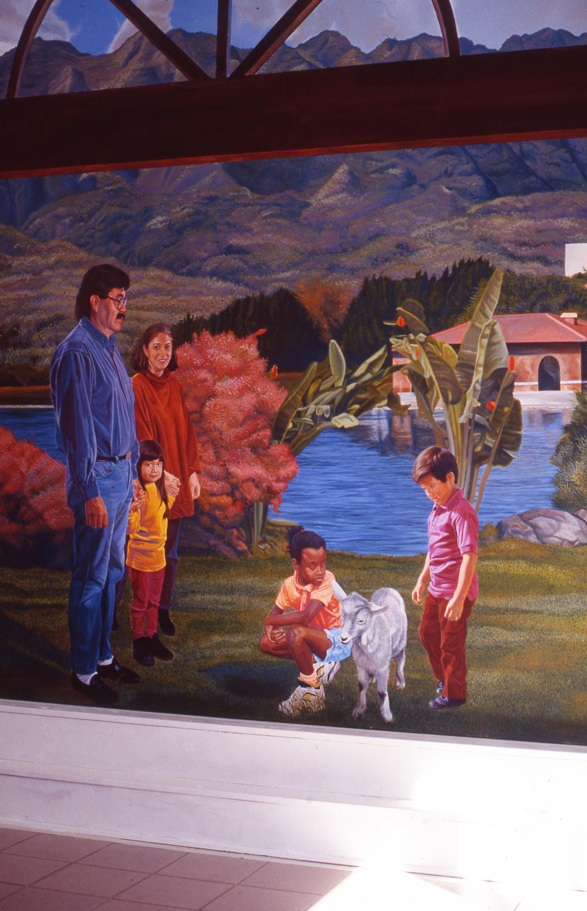 """White Memorial Hospital Project"", Right wall    1993 Acrylic on canvas   12 x 16 feet   © Richard Wyatt Jr."