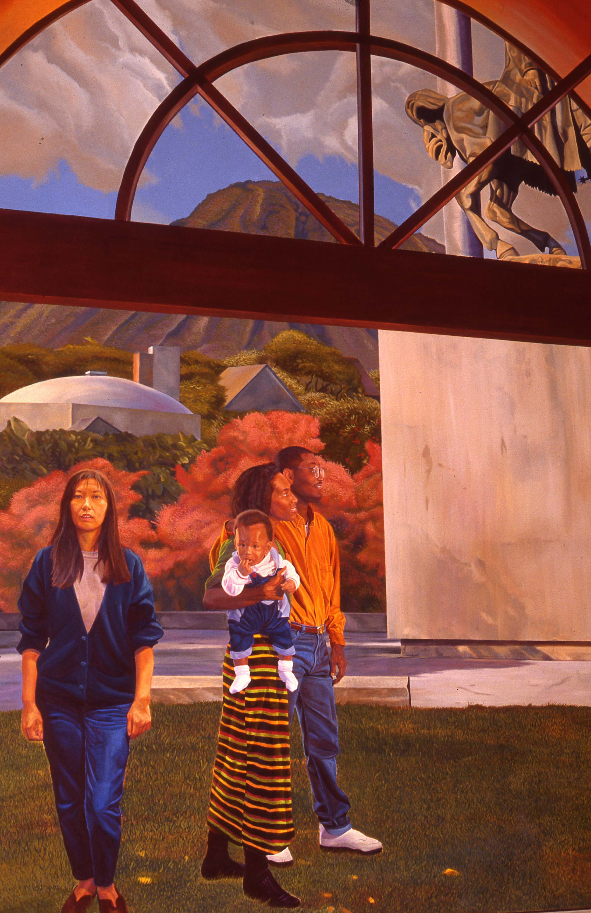 """White Memorial Hospital Project"",  Left wall    1993 Acrylic on canvas   12 x 16 feet   © Richard Wyatt Jr."