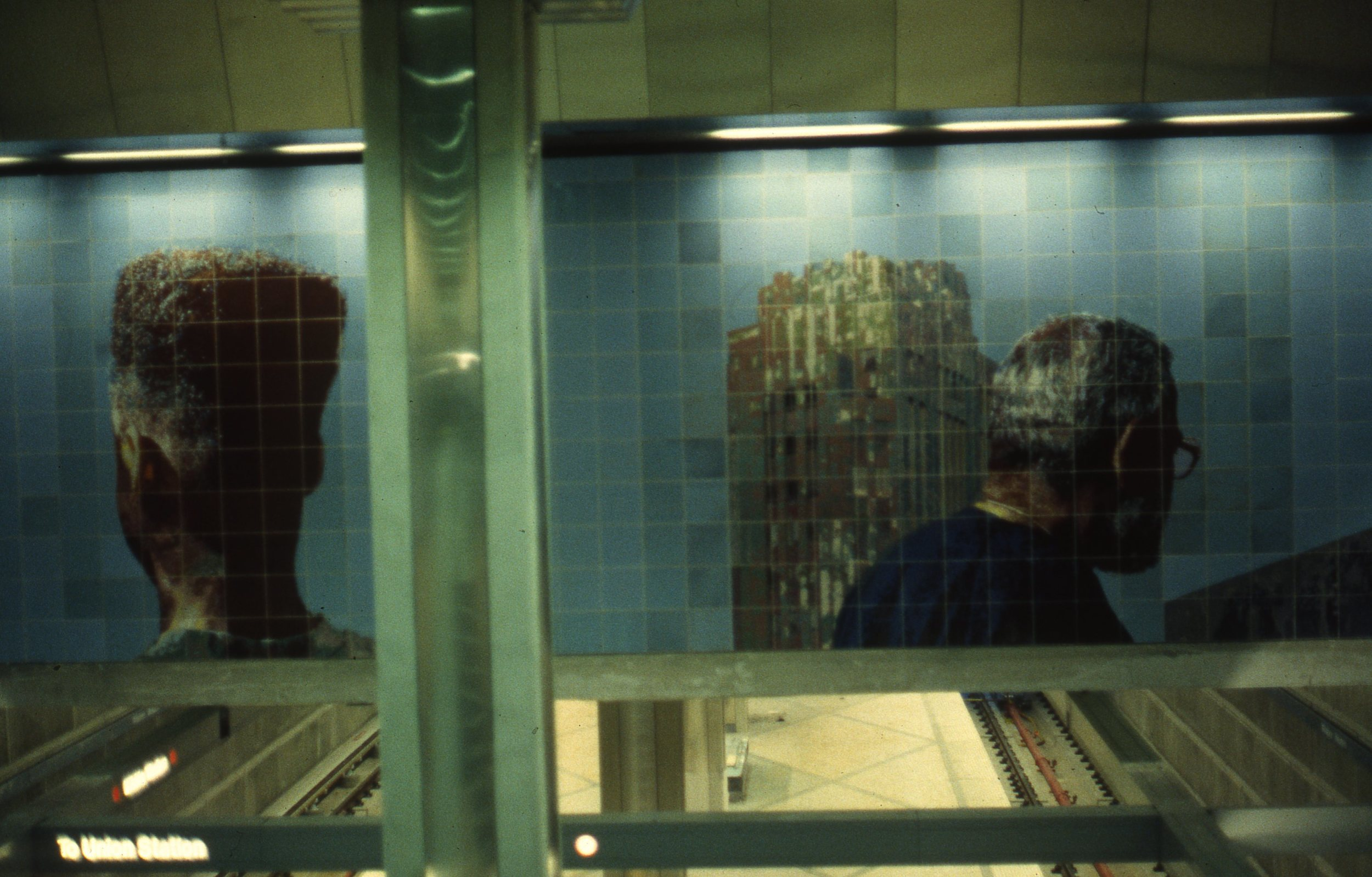 """People Coming, People Going"", West wall detail    1996   CeramicTile   10 x 30 feet   © Richard Wyatt Jr."
