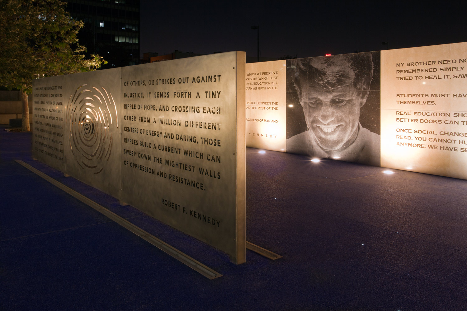 """""""Robert F. Kennedy Inspiration Park"""",Angle view    (Collaboration with artist May Sun)    2010"""