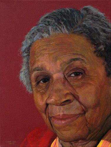 """Helen Wyatt""    2015 Acrylic on canvas   12 x 16 inches   © Richard Wyatt Jr."