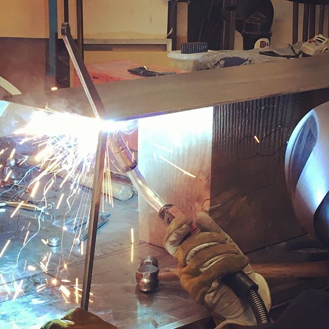 Purely experimental table art.  #architectural #interiordesign #sculpture #welding #metalfab