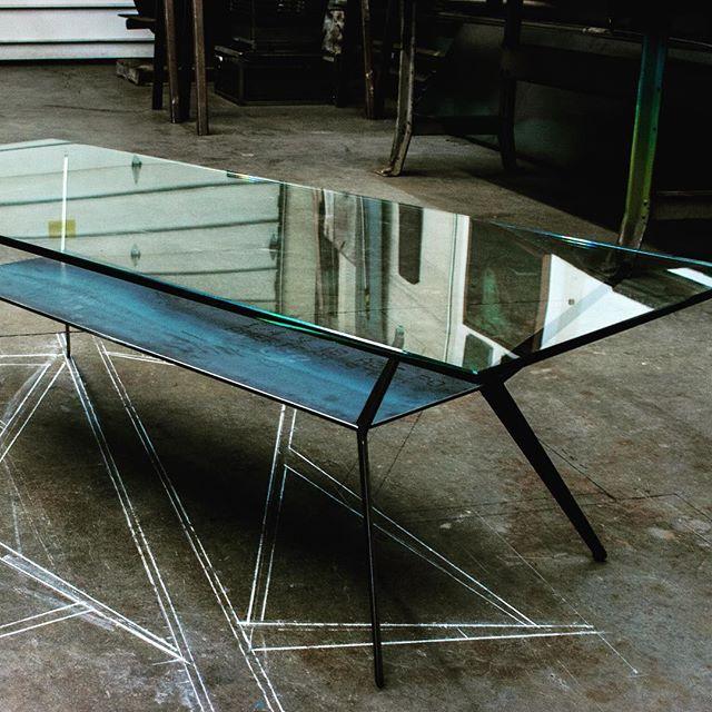 Experimental table collaboration with @miosi_d. #metalfab #welding #sculpture #interiordesign #architectural #architecturaldesign