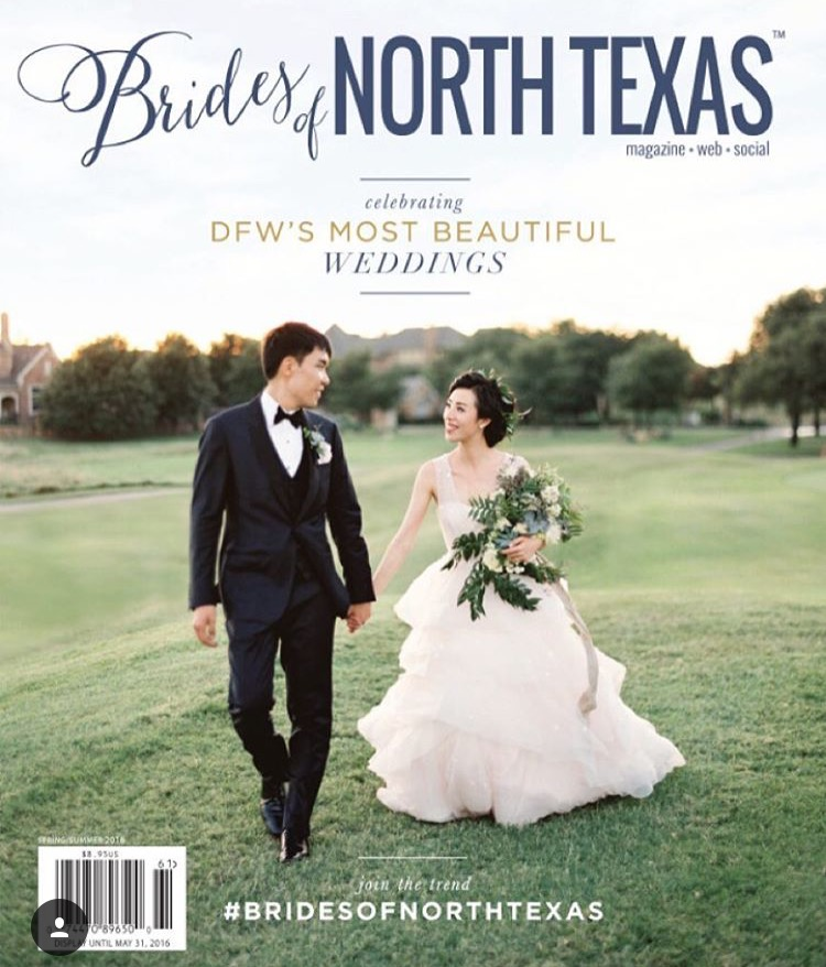 Cover of the Brides of North Texas Spring/Summer 2016 Issue