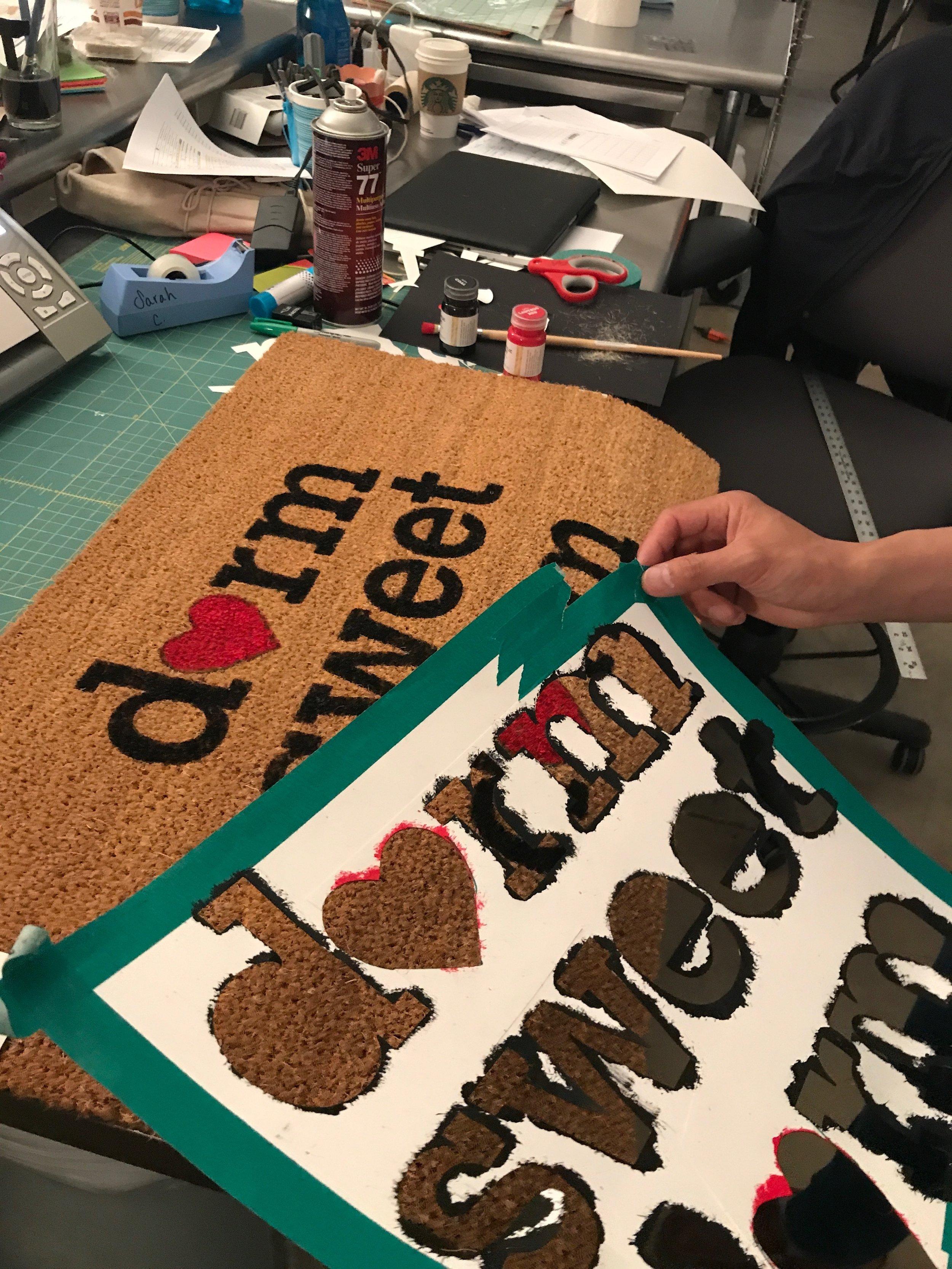 "Creating the DIY ""dormmat"""