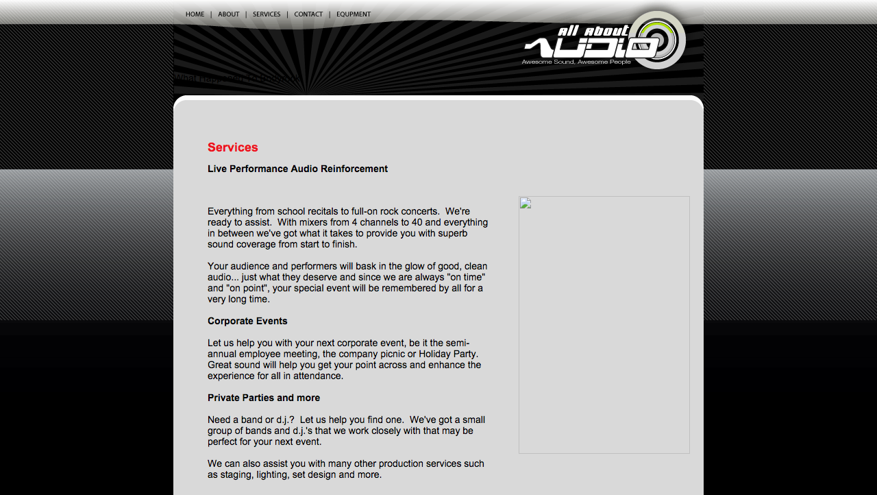 All About Audio Online (Old Services Page)