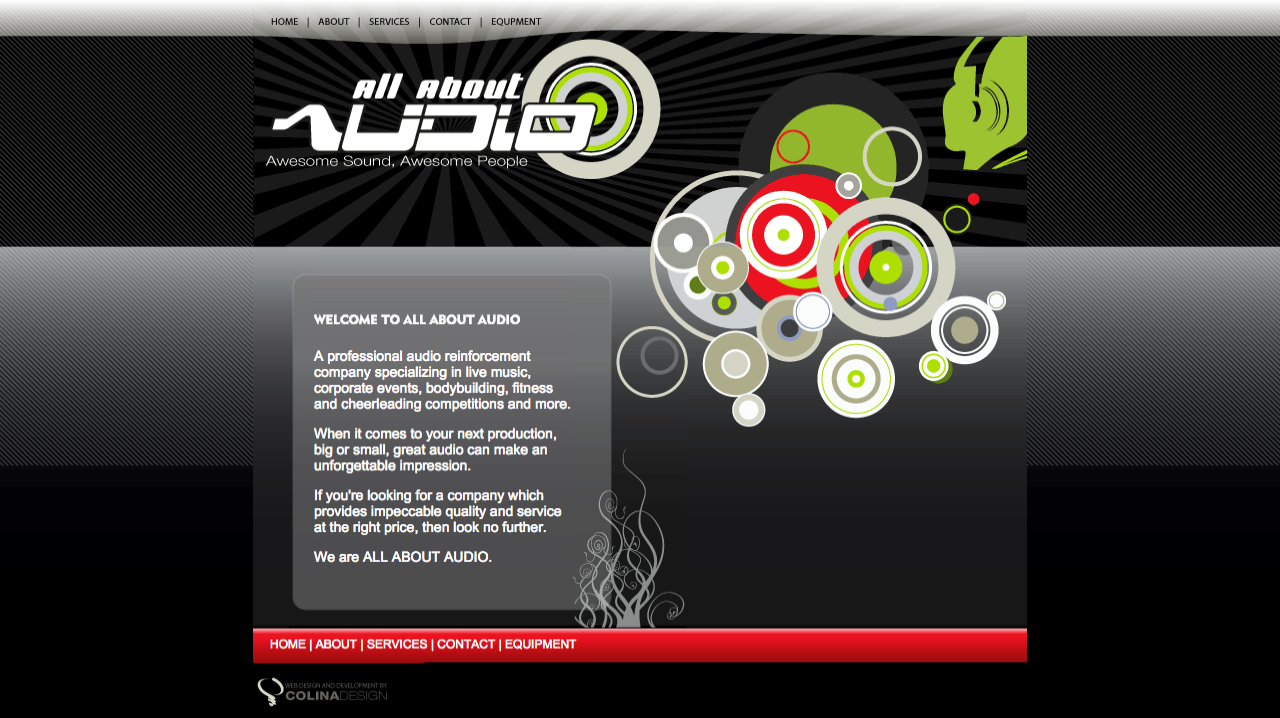 All About Audio Online (Old Homepage)