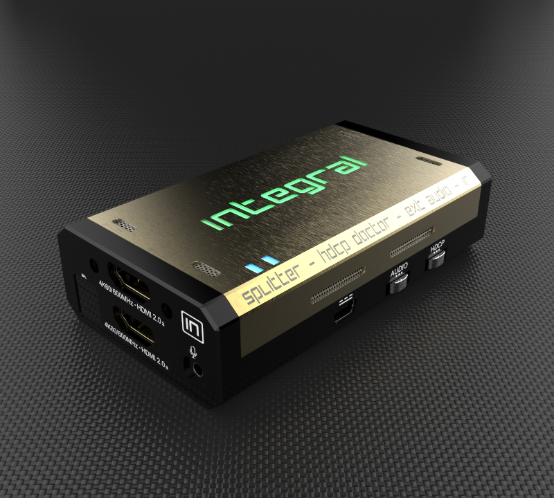 Marketing shot of Integral by HD Fury, a box that will allow you to manually alter HDMI metadata