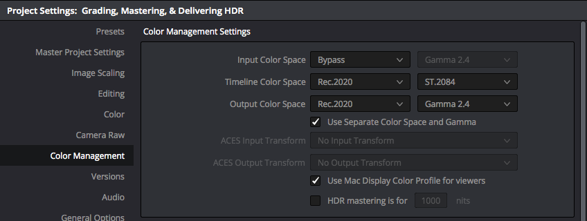 Using DaVinci Resolve Studio to handle HDR to SDR cross conversion