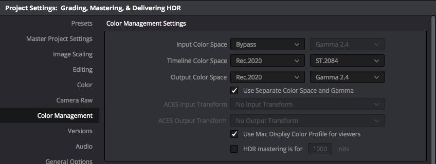 Using DaVinci Resolve Studio to handle HDR to SDR cross conversion
