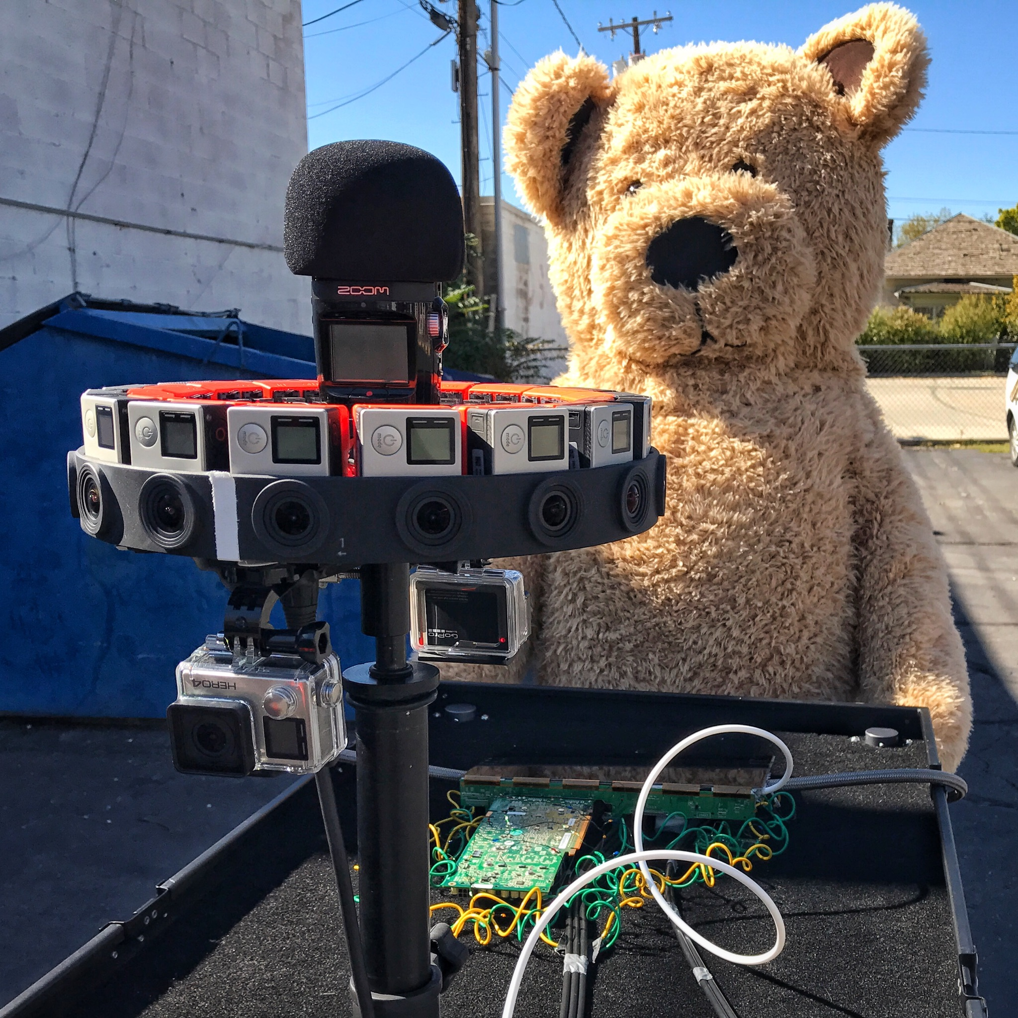 H2n Mounted on GoPro Odyssey for Spatial Audio Capture